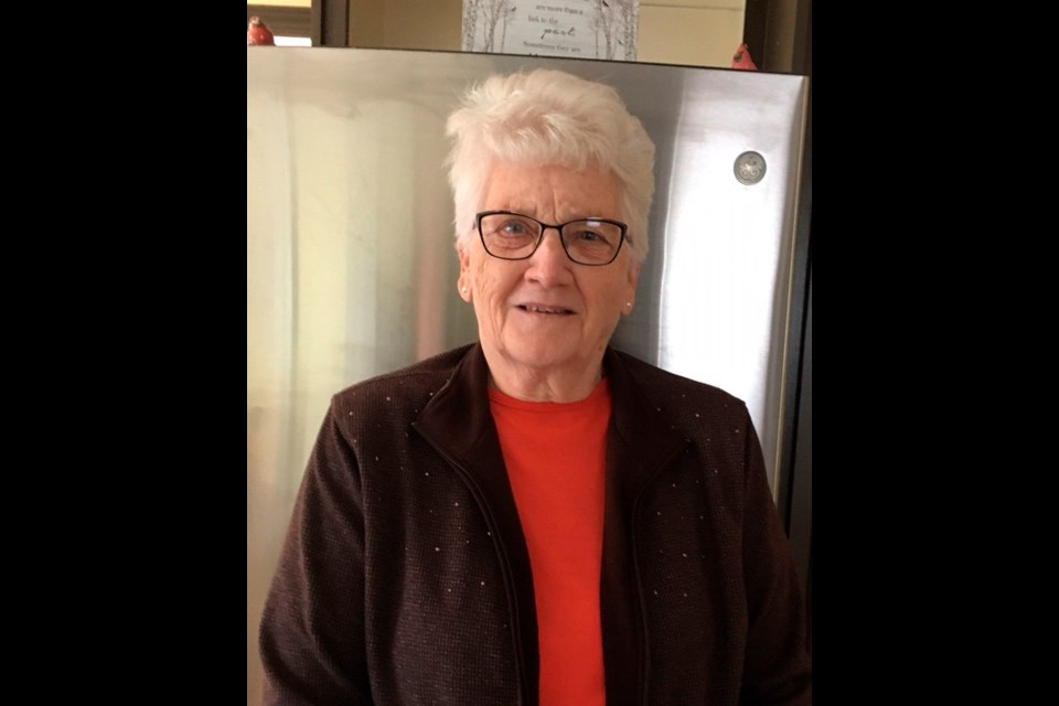The Virden and District Health Auxiliary celebrates and thanks Evelyn Hayward for her years of service. Currently the secretary of the Auxiliary, Ev recently received her 20-year pin.