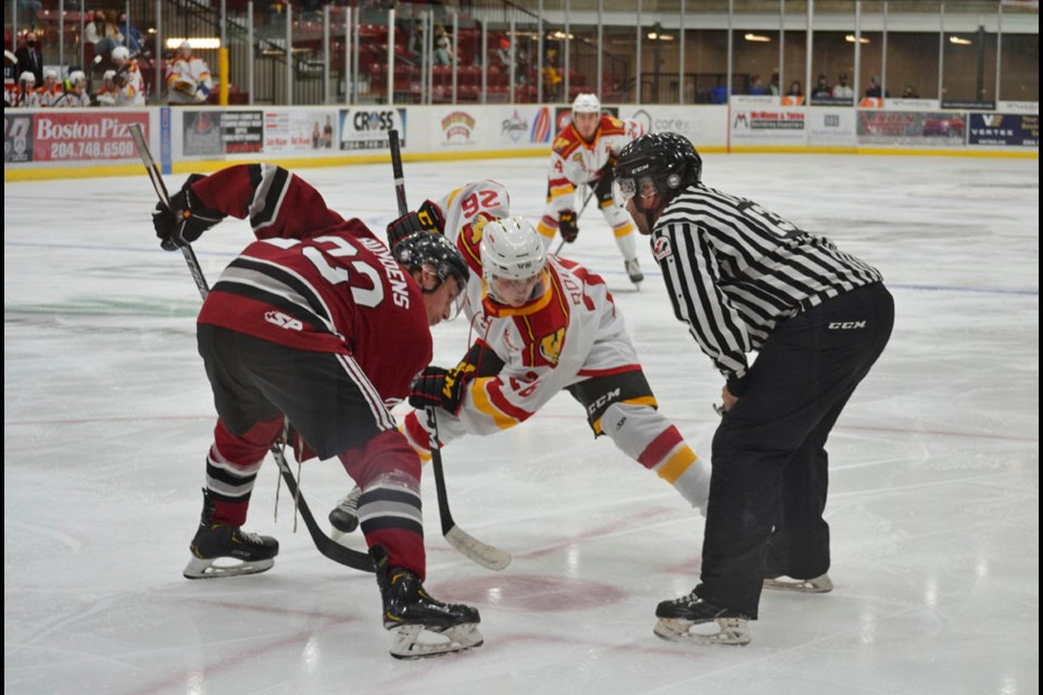 The Virden Oil Capitals battle the Waywayseecappo Wolverines in the 2021-22 Season Opener at Tundra Oil & Gas Place on Friday, September 17.