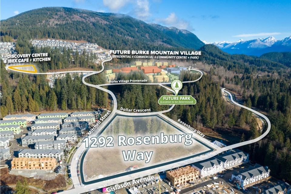 Location map for 1292 Rosenburg Way - ideally situated on Burke Mountain.