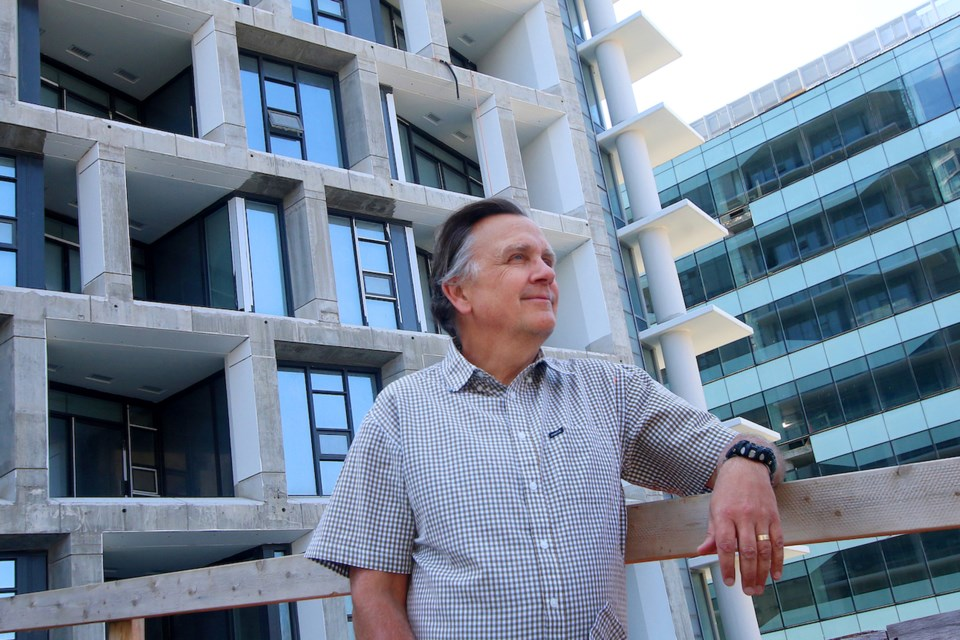 Jon Stovell, president and CEO of Reliance Properties at Burrard Place: new condo market is looking up downtown. | Rob Kruyt