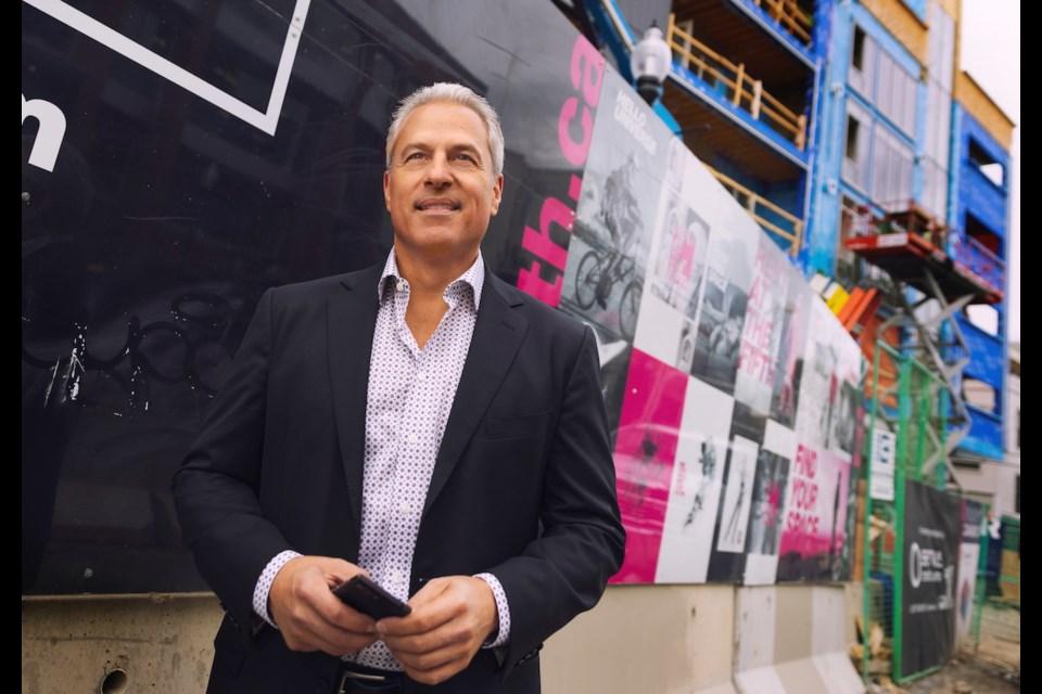 Frank Lonardelli, founder of Arlington Street Investments, plans on 45,000 square feet of commercial and 1,200 new homes along Calgary's 17th Avenue.   Ewan Nicholson / ewannicholson.ca