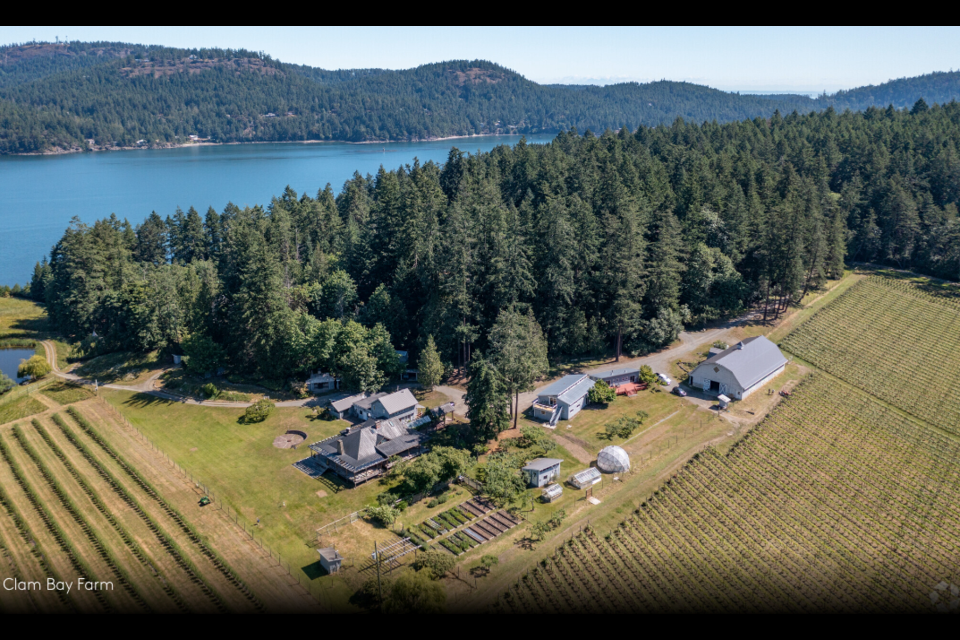 Clam Bay: 105-acre working farm on North Pender Island includes three houses, an organic farm and large dock. | Macdonald Commercial