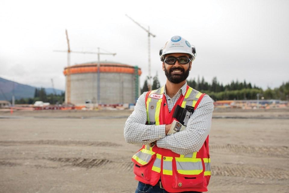 Naman Maheshwari, LNG Canada's LNG tank project lead.  LNG Canada