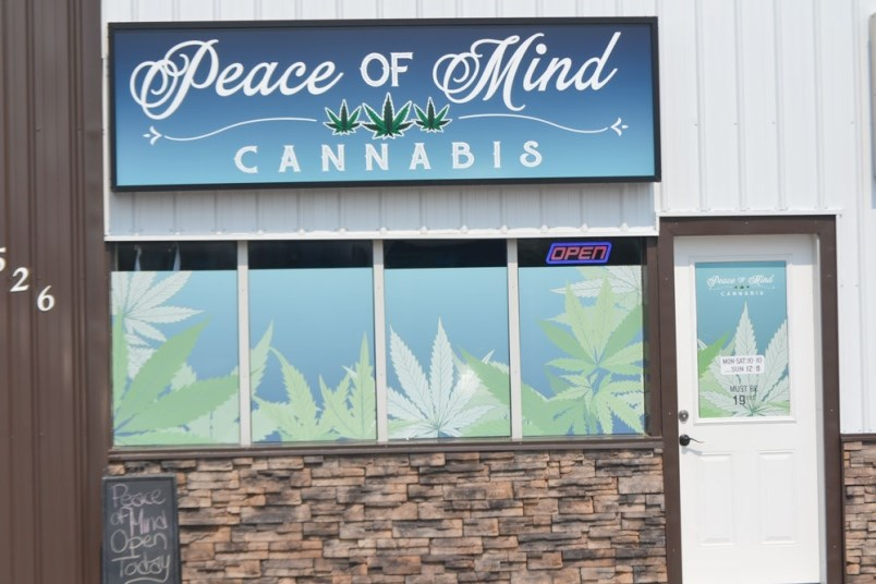 Peace of Mind Cannabis among latest new outlets in Saskatchewan.  Submitted