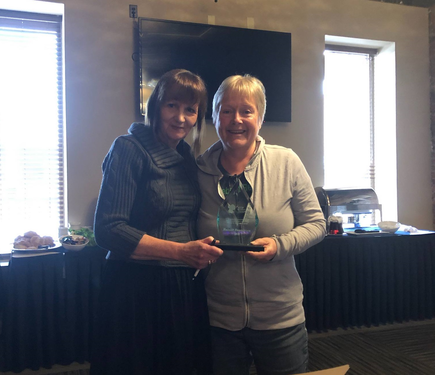 Award for service of those affected by intimate partner violence presented