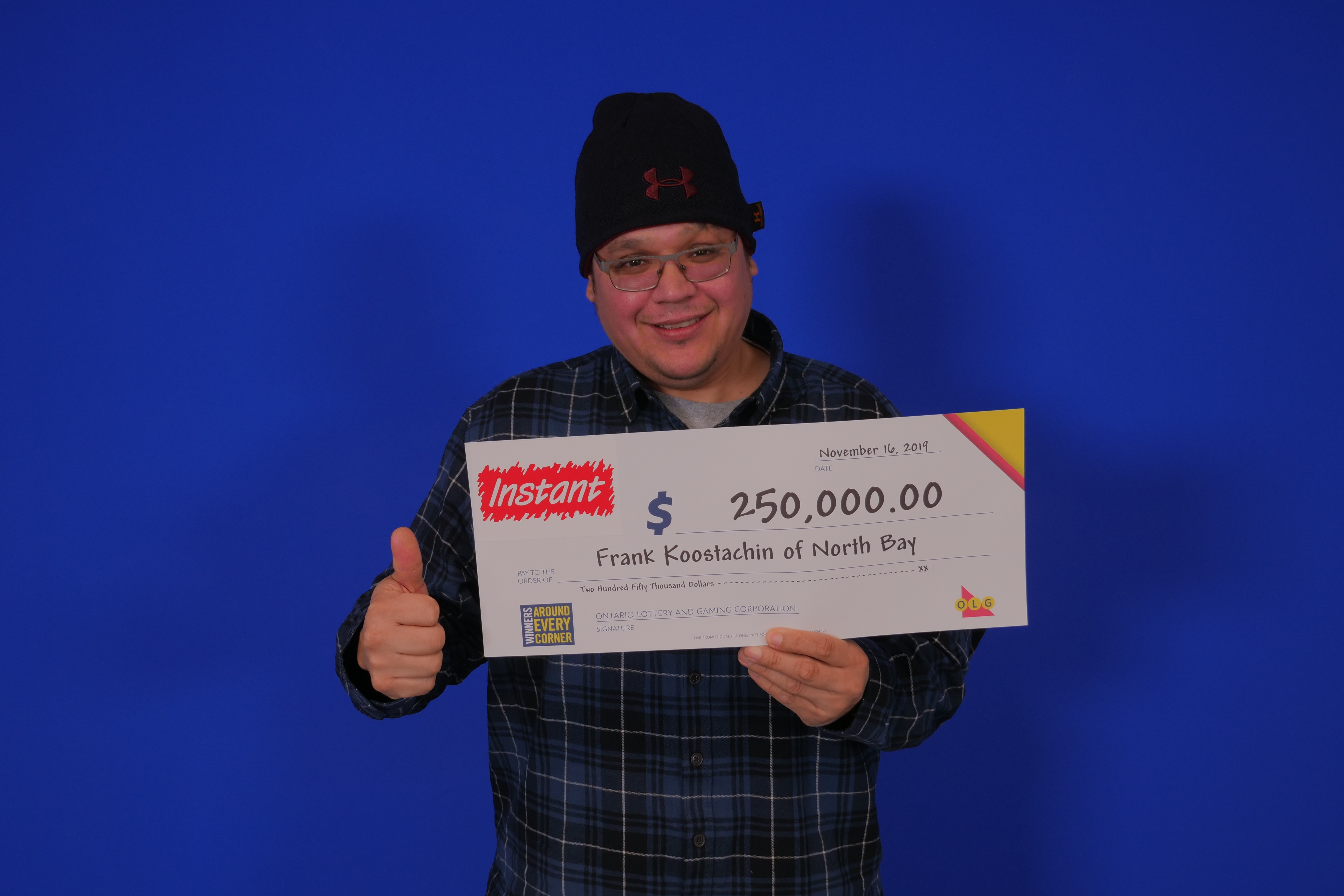 North Bay man wins a quarter of a million dollars