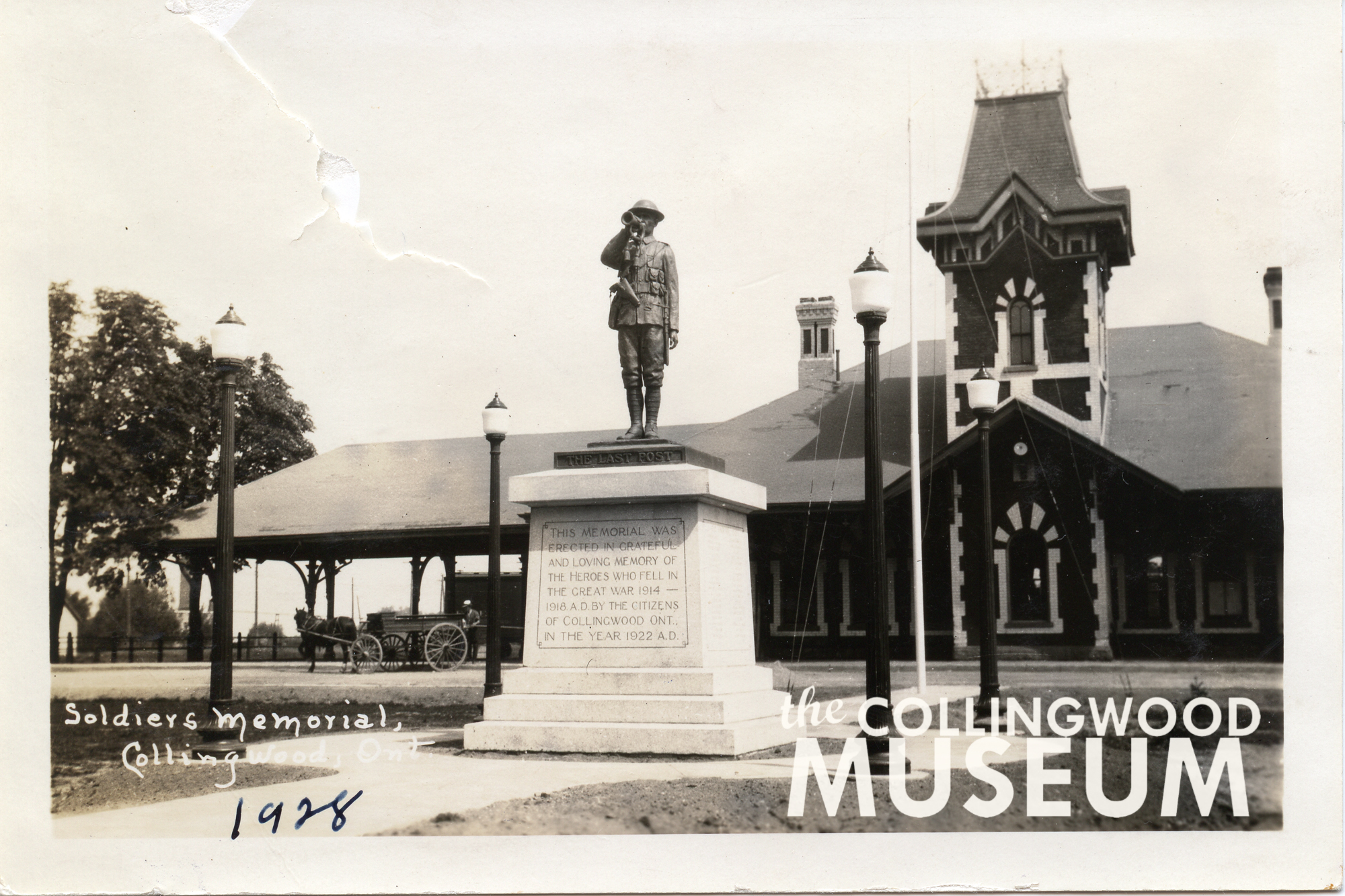 Thievery, physical threats: Collingwood's cenotaph had a controversial journey to its final home - CollingwoodToday