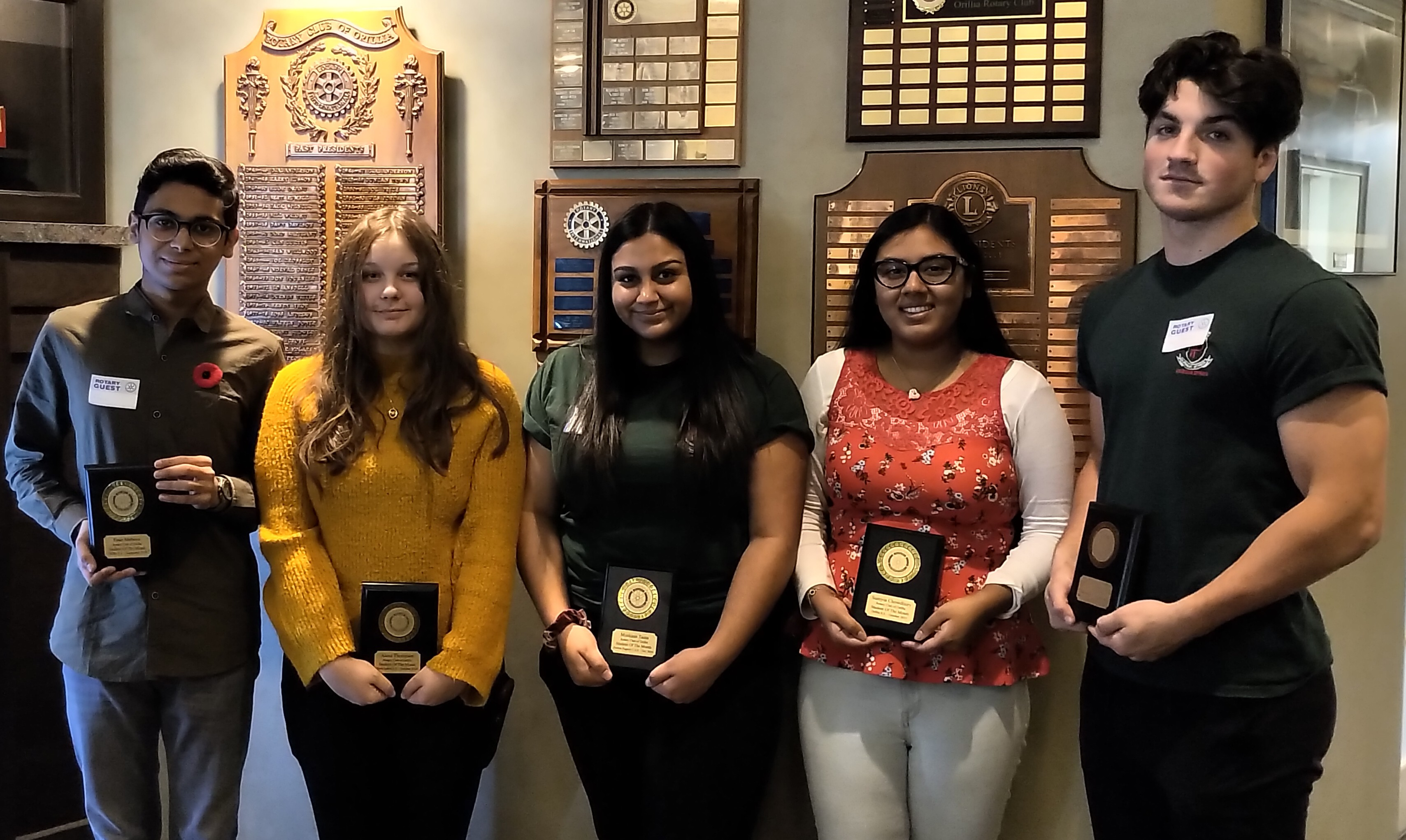 Rotary Club honours Orillia's Students of the Month - OrilliaMatters