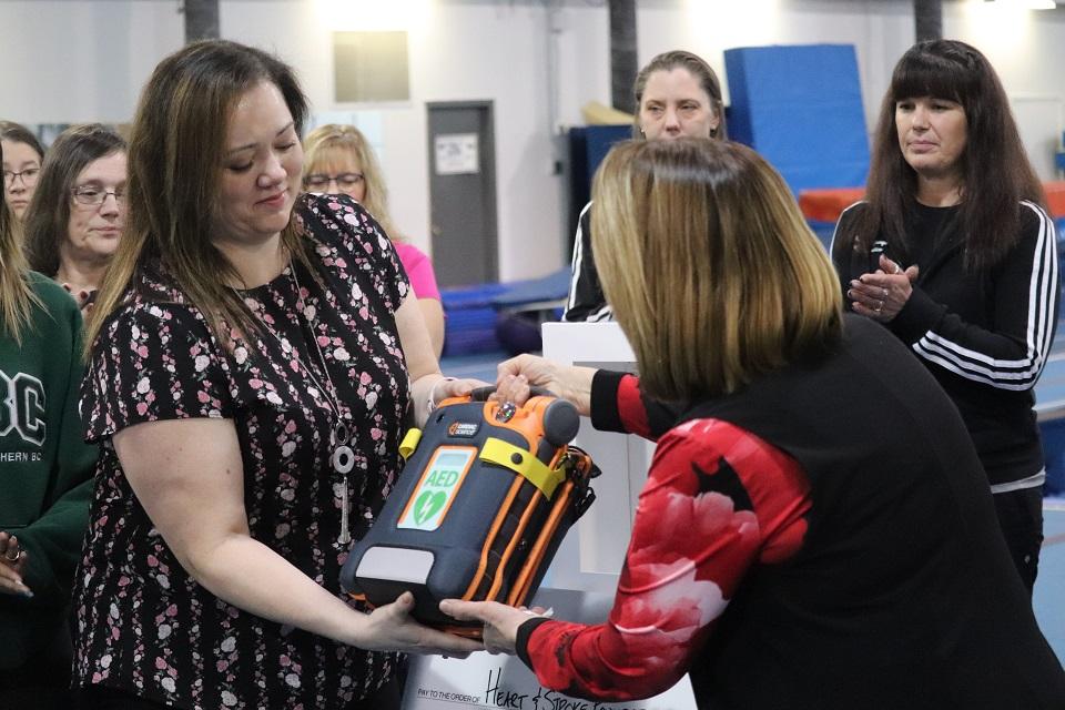 PHOTOS: New defibrillator for Prince George Gymnastics Club touches cardiac survivor's heart - PrinceGeorgeMatters.com