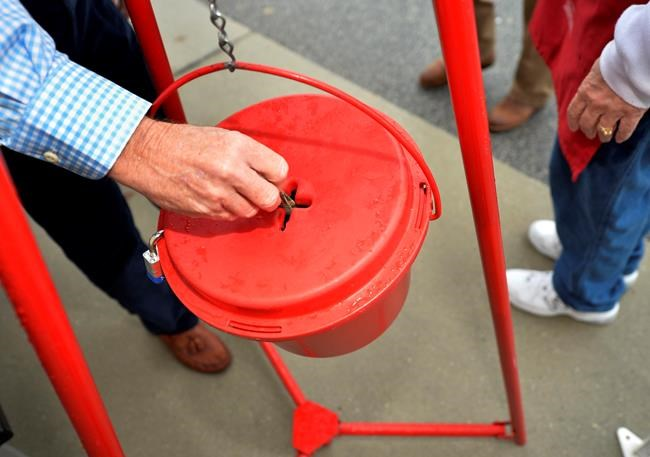 Canada's Salvation Army testing out quicker tap-and-go option at kettle stations
