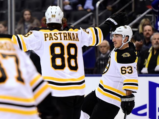 Marchand scores twice in the 3rd as Boston hands Toronto its 4th straight loss