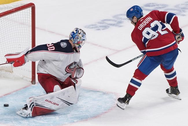 Jonathan Drouin scores winner, Canadiens beat Blue Jackets 3-2 in shootout - Airdrie Today