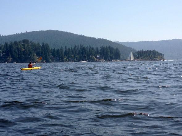 Views from Deep Cove kayaking